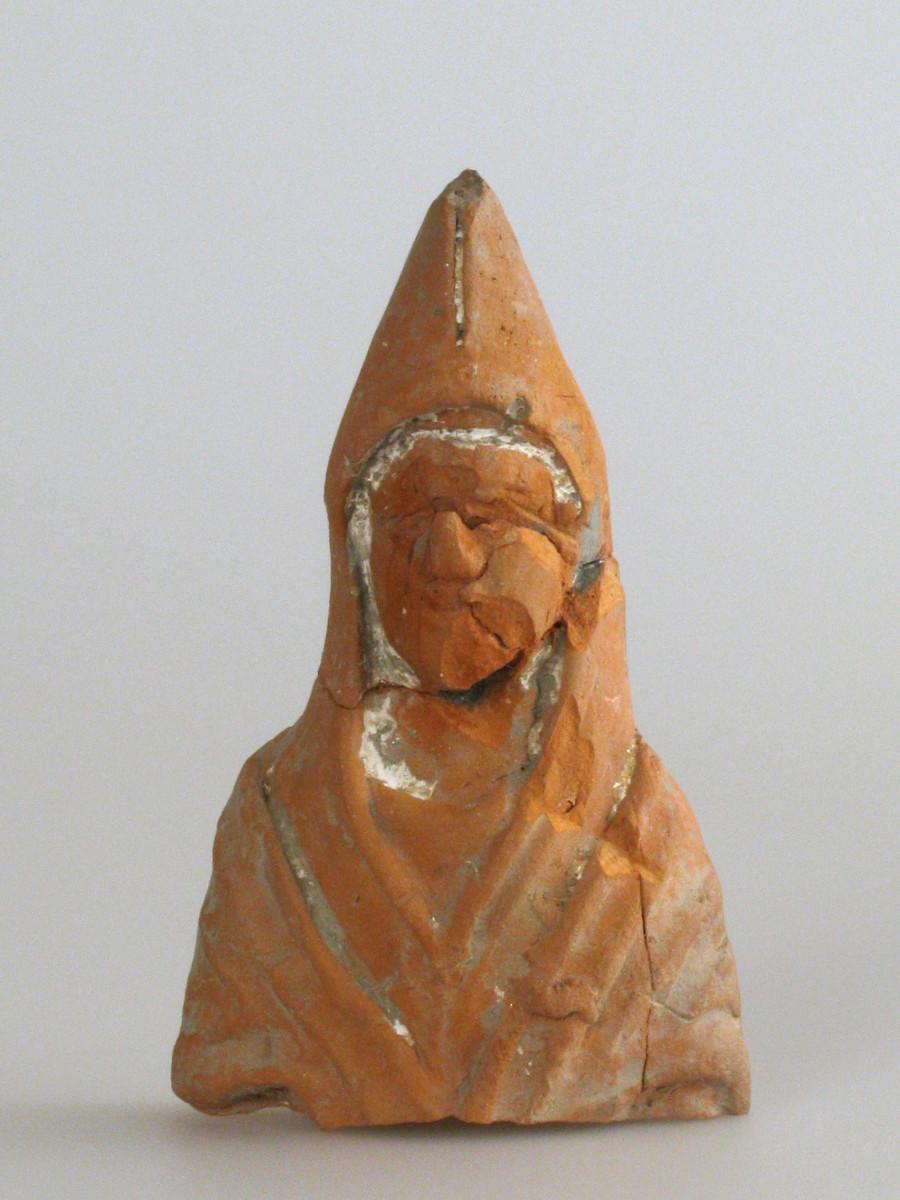 Terracotta statue of god Priapus, archaeological site Vranj in Hrtkovci (Vojvodina, Serbia).