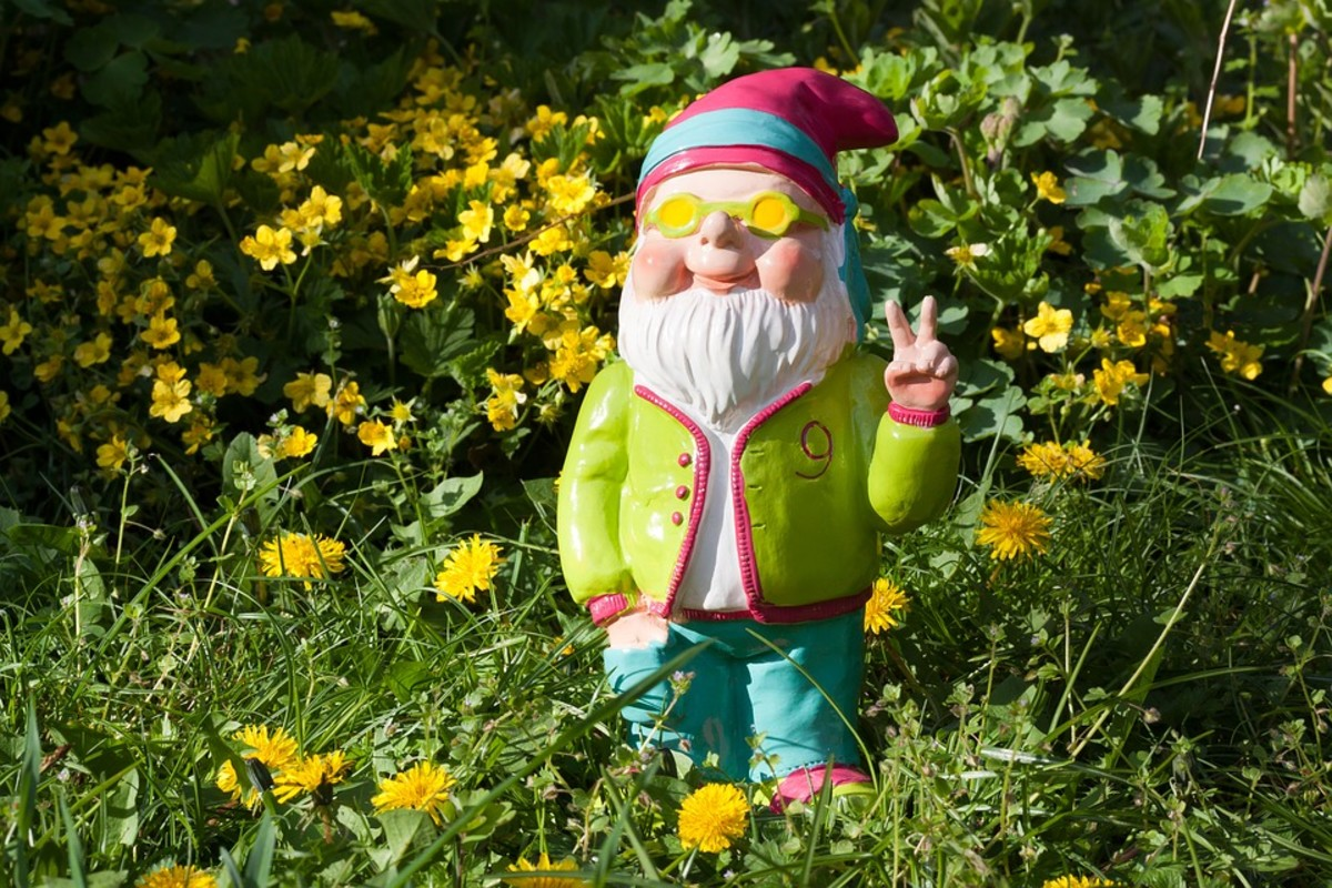 Garden gnomes have been available in far-out designs since their resurgence in the 1970s.
