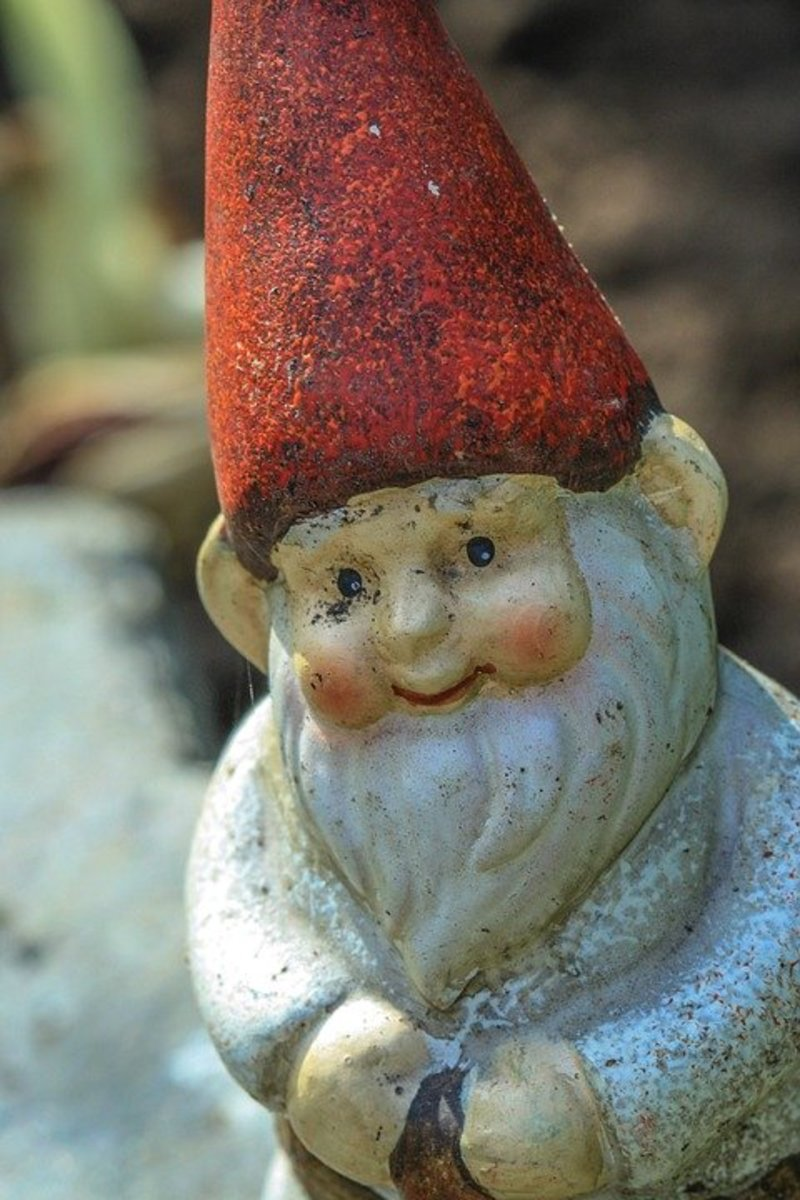 Garden gnomes faithfully protect their gardens from all forms of evil.