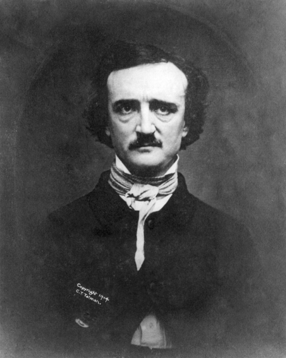 A portrait of Edgar Allan Poe.