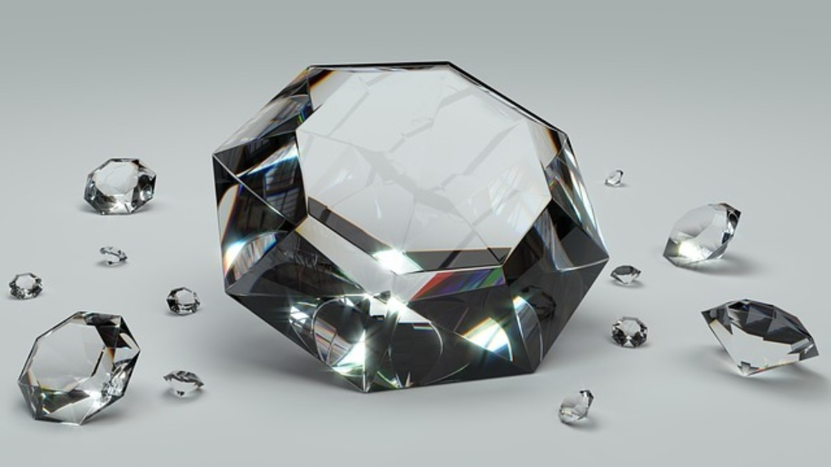 Diamond is mostly carbon and one of the hardest materials known.