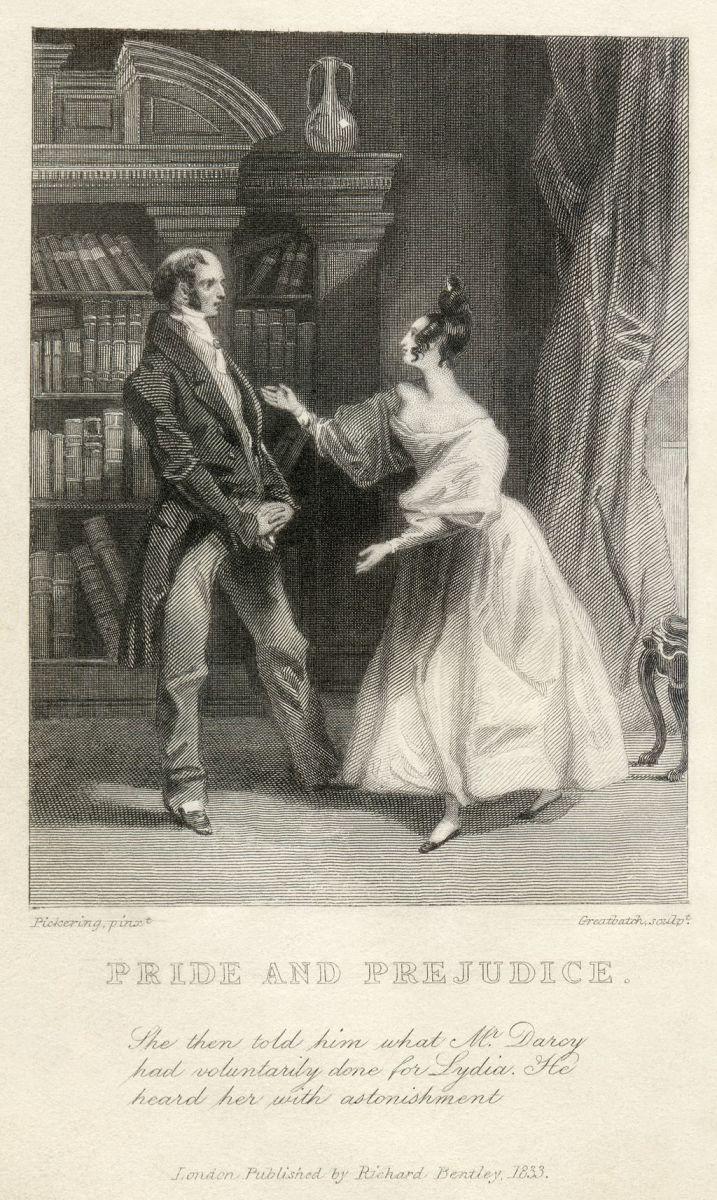 A scene from Pride and Prejudice. In the world of Austen, prices and income were stable and were indicators of social status.