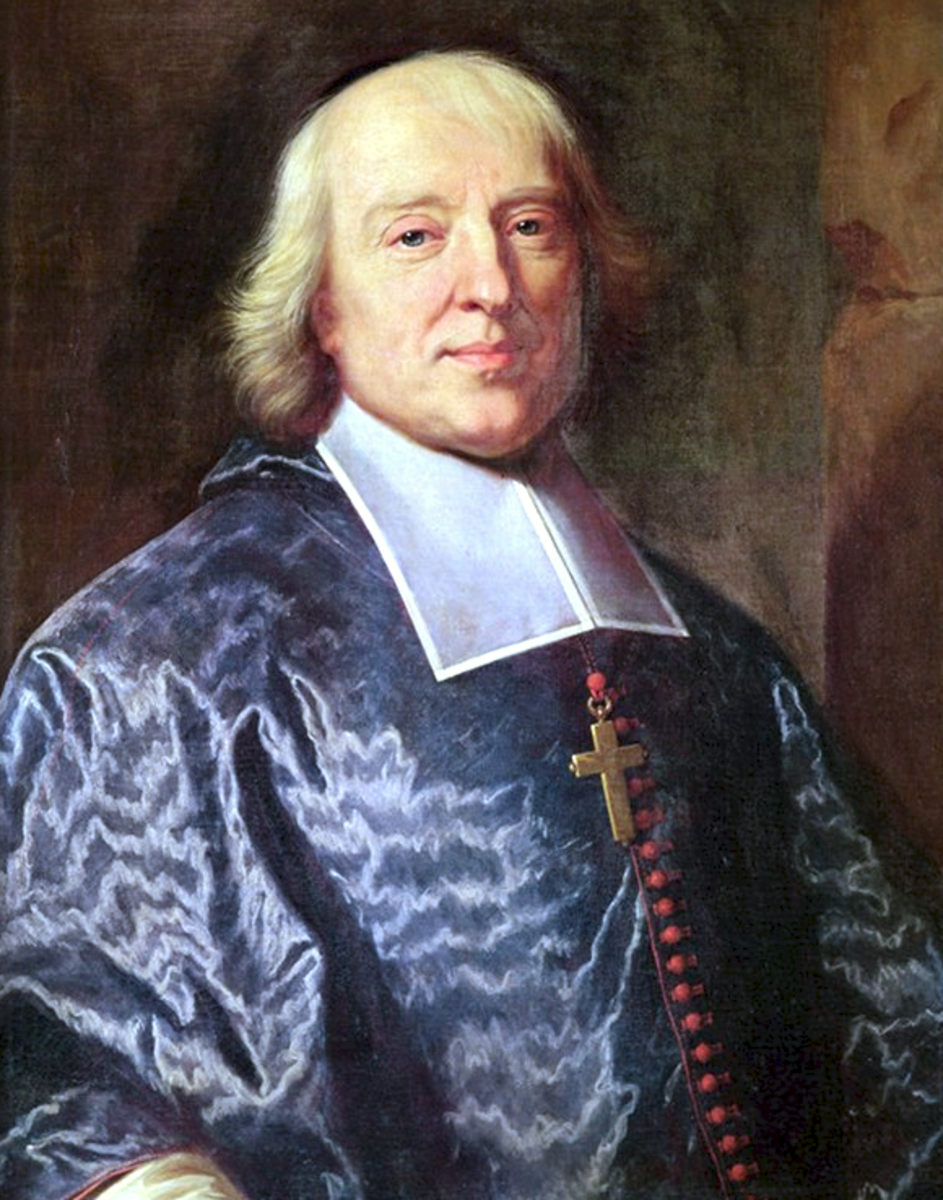 "An important French thinker on the matter of Divine Right of Kings was Bishop Jacques Bossuet. He wrote ""Politics Derived from the Words of Holy Scripture"" (published 1709) in which he lays out the principles of divine right."