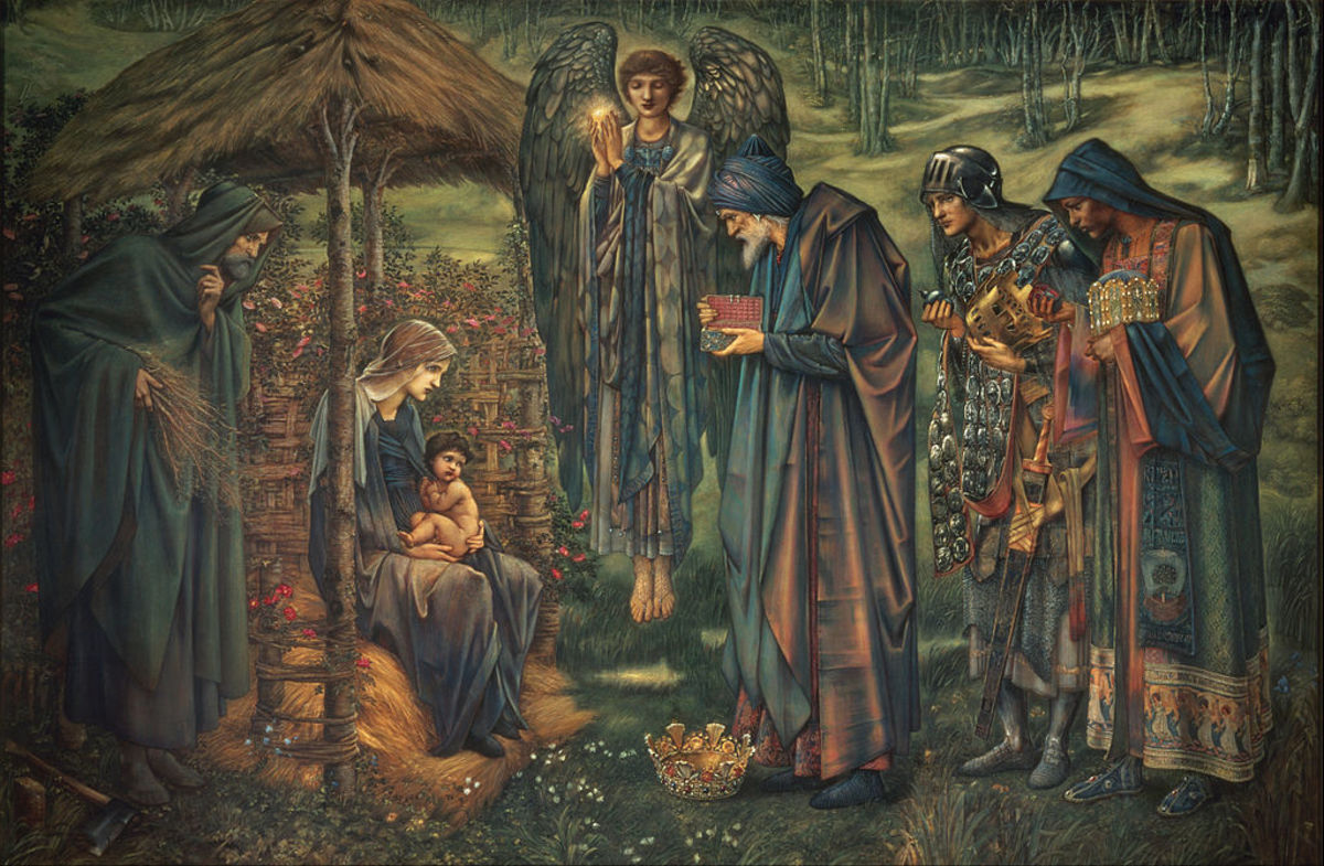 """""""The Star of Bethlehem"""" by Edward Burne-Jones. The famous Christmas star, if it existed at all, was probably a comet"""