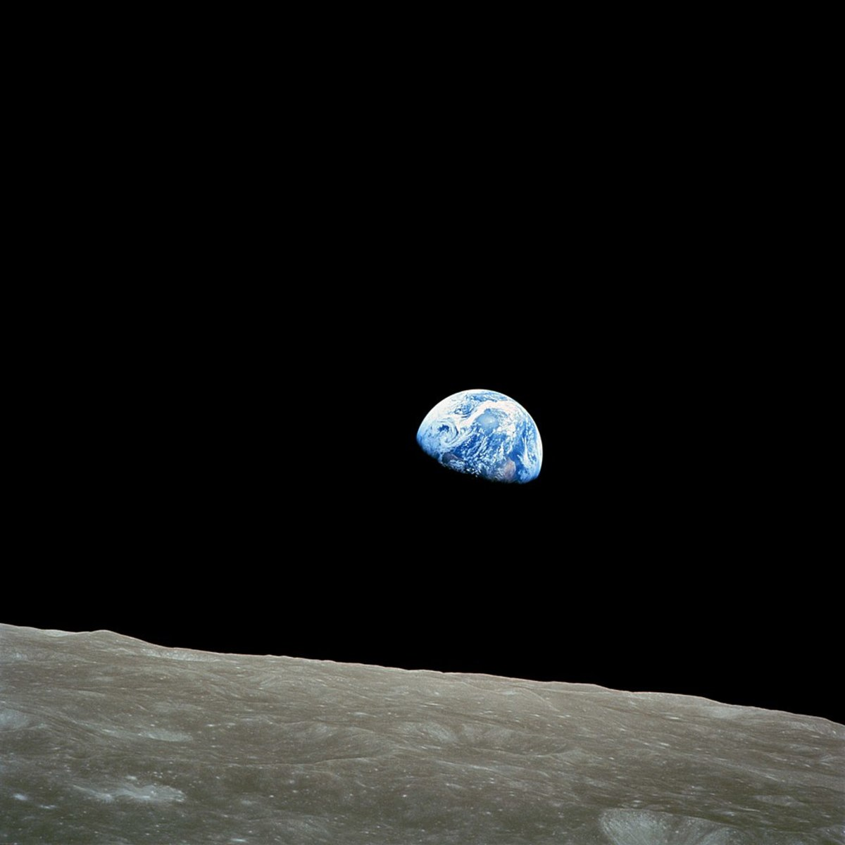 Earth from the vantage point of the Moon.