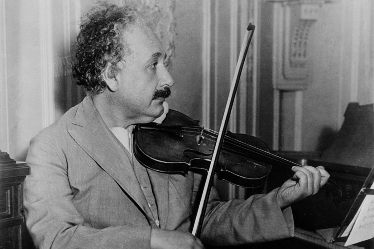 Alfred Einstein enjoyed playing the fiddle