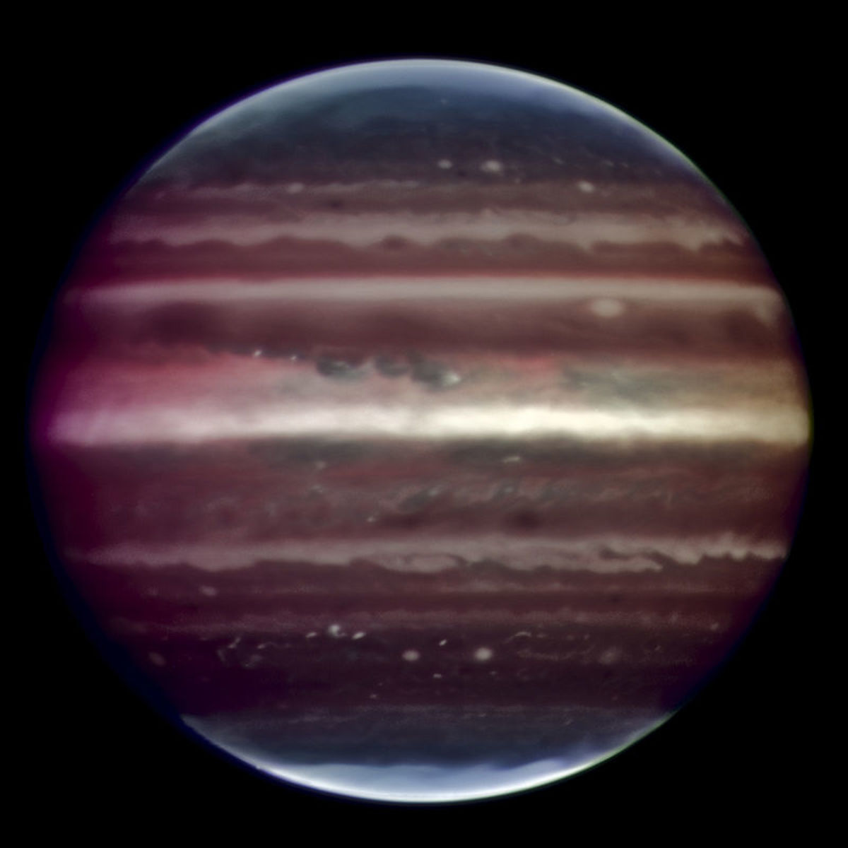 Infrared view of Jupiter.