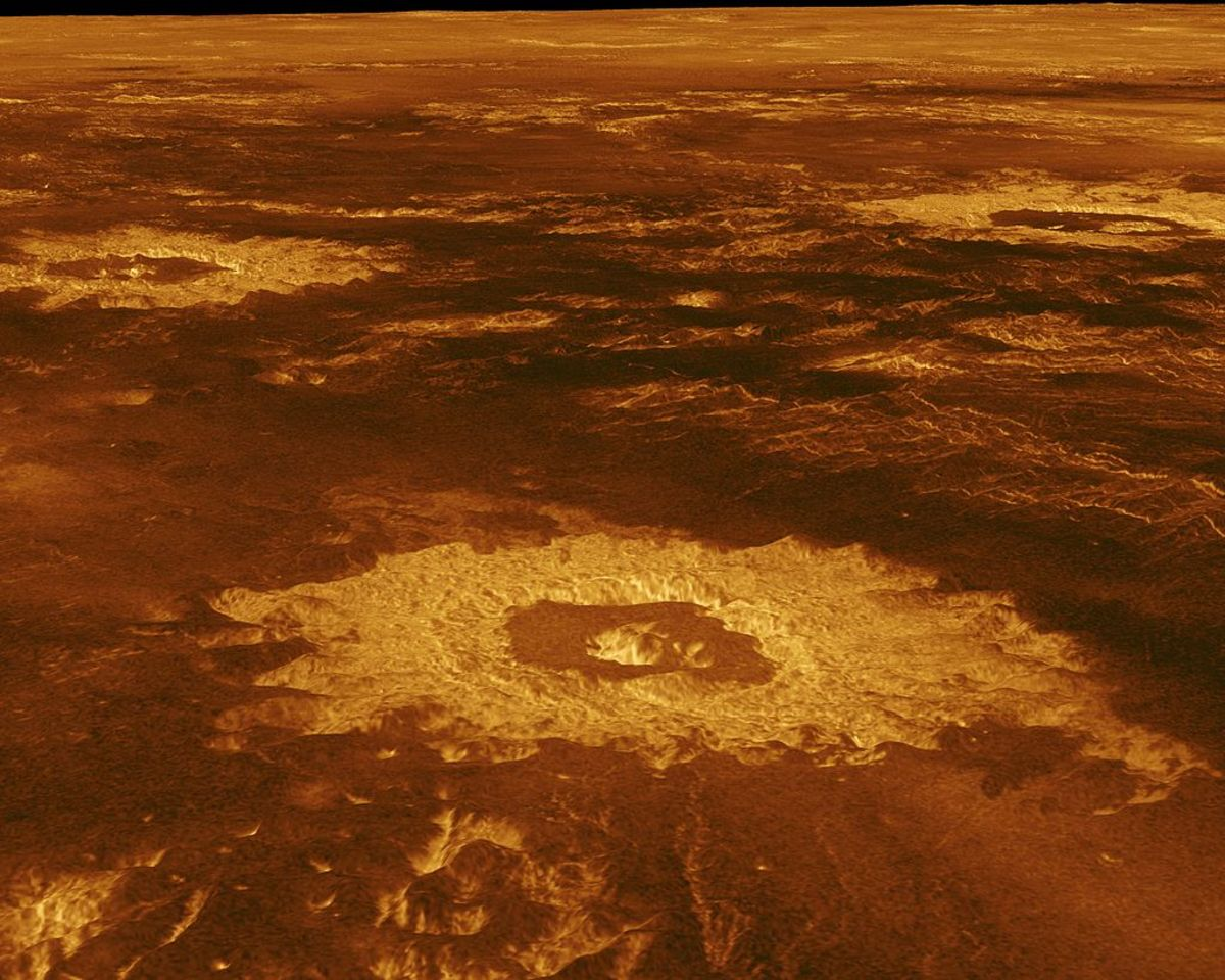 Surface of Venus.