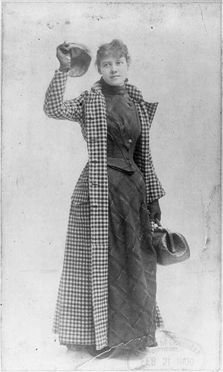 Nellie Bly before leaving on world journey.