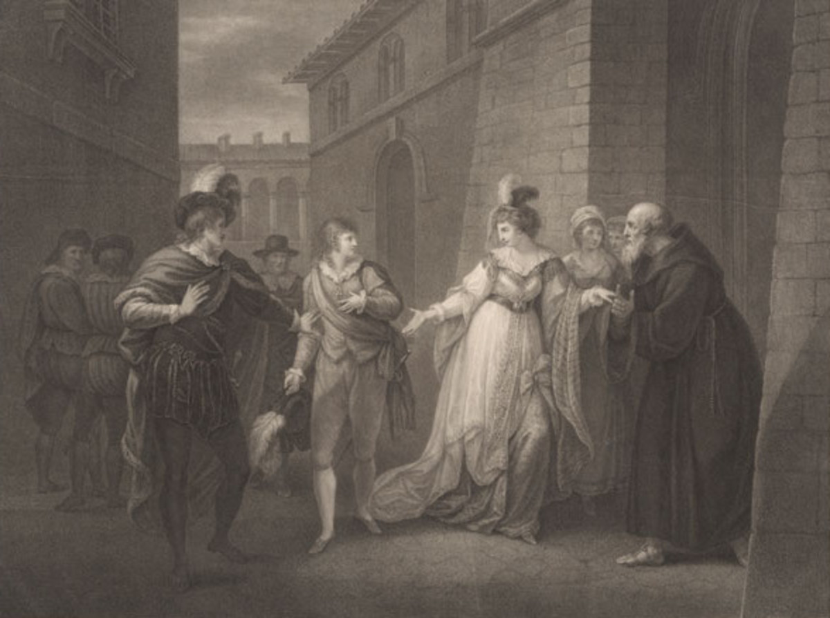 Twelfth Night. ACT V. SCENE I. The Street. Duke, Viola, Antonio, Officer's, Olivia, Priest & Attendants.