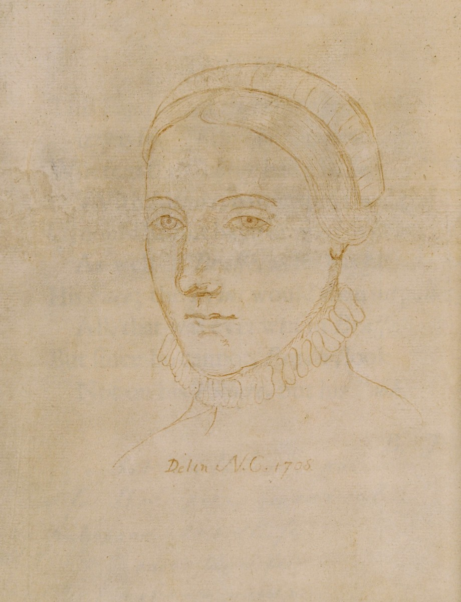The only surviving image that may depict Anne Hathaway, the wife of William Shakespeare, is a portrait line-drawing made by Sir Nathaniel Curzon in 1708.