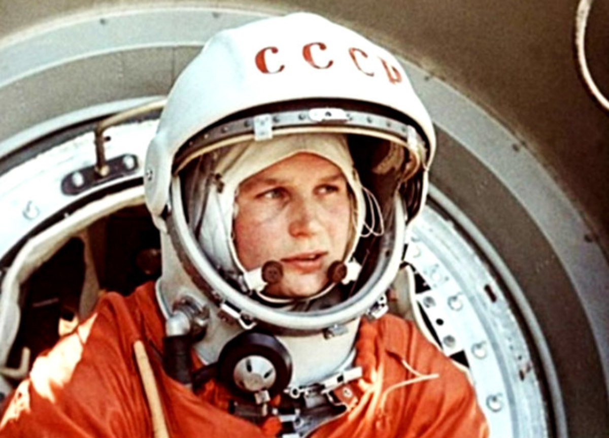 Yuri Gagarin, the first man to travel into space.