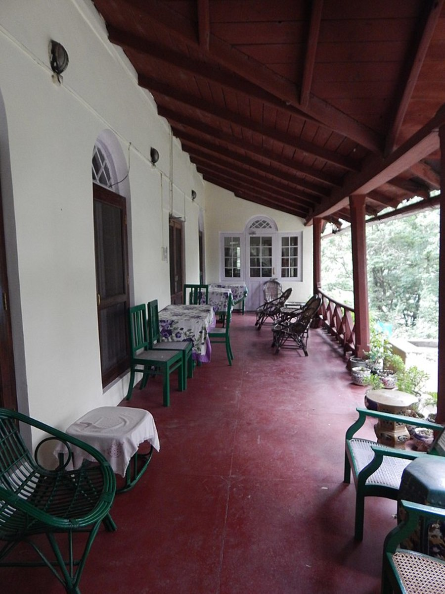 The real thing, or pukka example; a verandah in India.