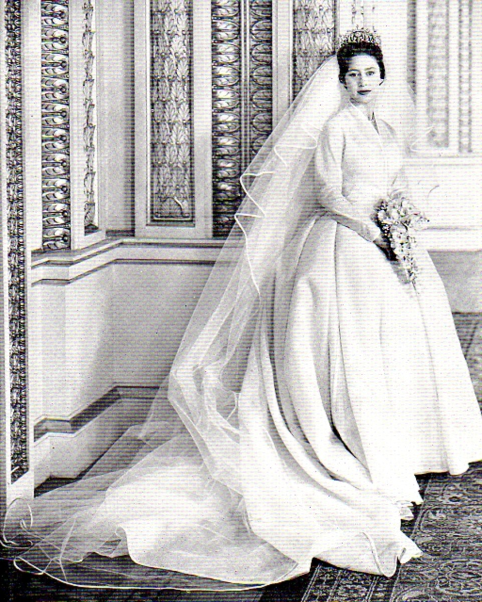 Princess Margaret in her wedding dress