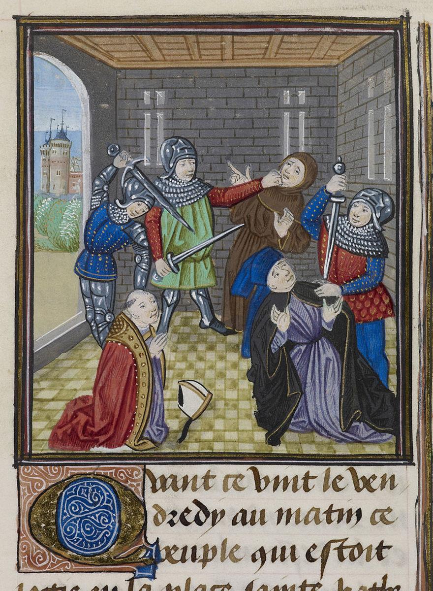 The demise of Simon of Sudbury.