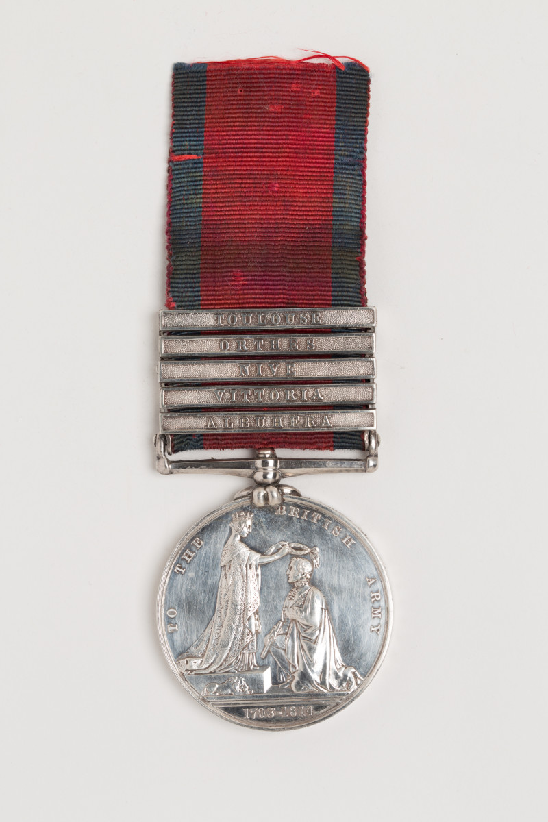 The 1847 Military General Service Medal - Five bar medal awarded to Richard Butler, 13th Light Dragoons