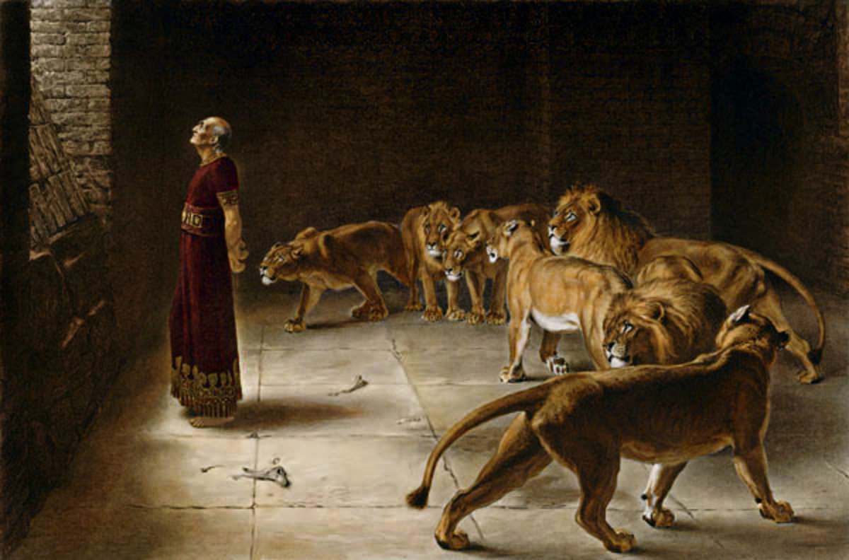 Daniel's Answer to the King by Briton Rivière