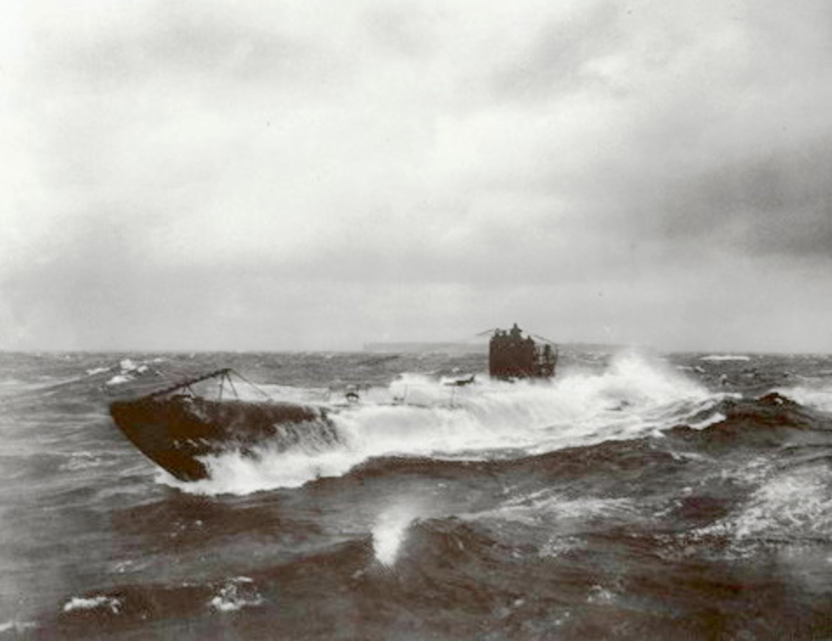 German submarine UB-148 at sea