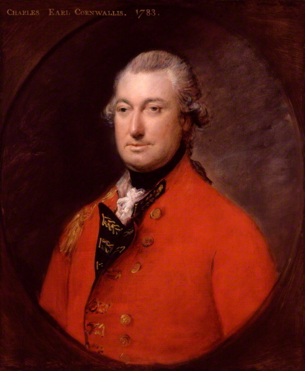 Lord Charles Cornwallis, 1st Earl of Cornwallis - Commanded the British contingent sailing from Ireland to Join Clinton's troops from New England off the North Carolina coast.