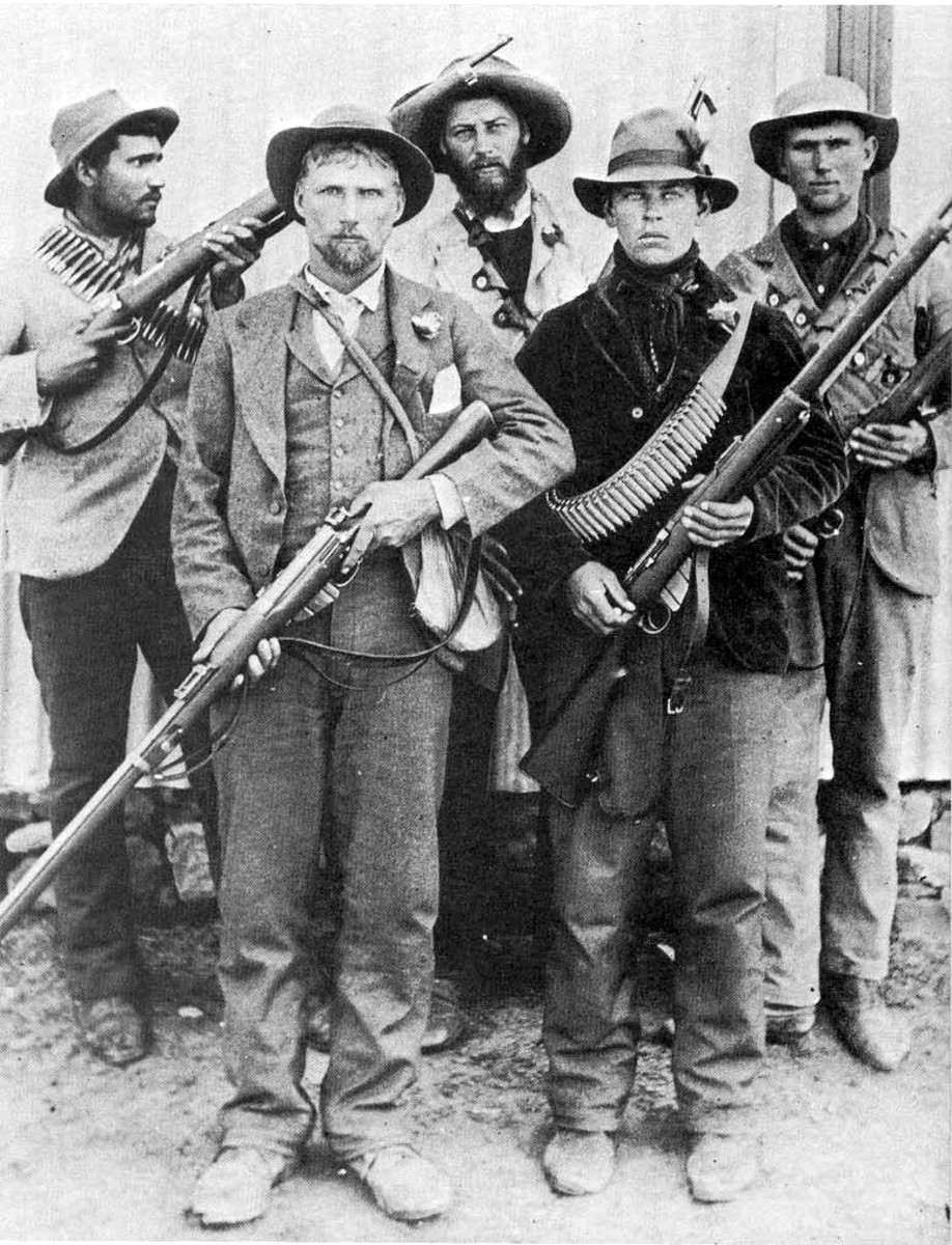 Boer soldiers, known as Boer commando