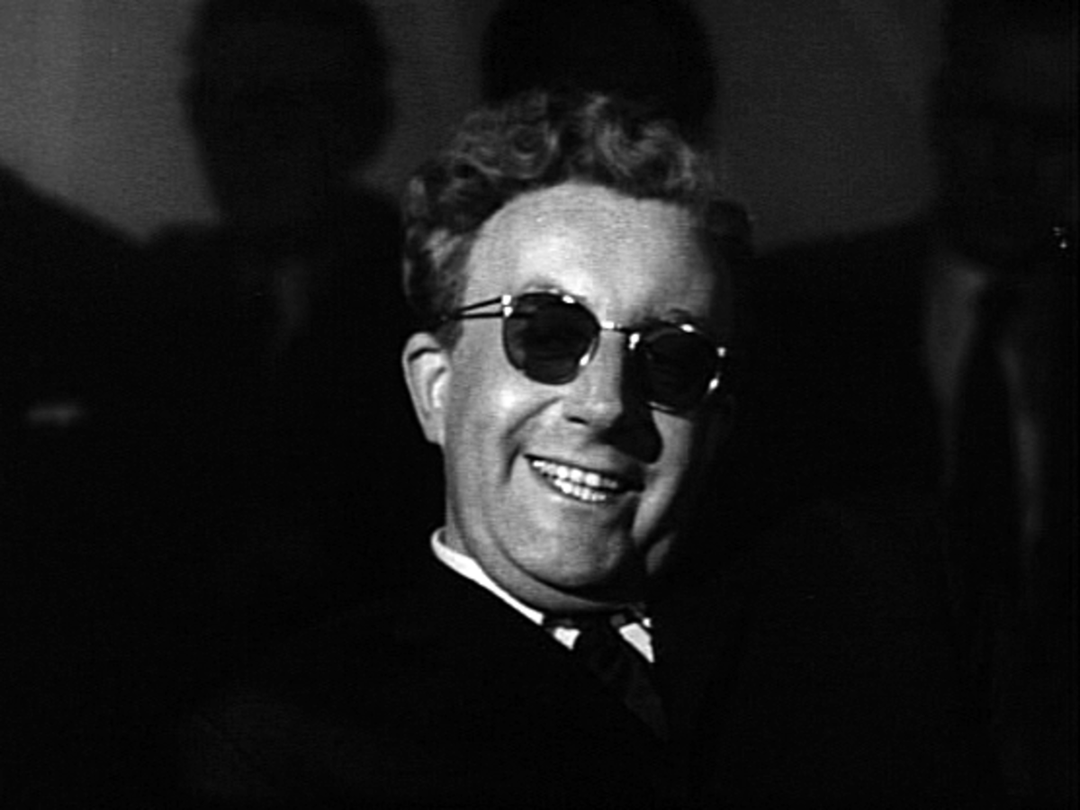 Dr Strangelove - played by Peter Sellers. Sellers would also play in the role of President Merkin Muffley, and as Group Captain Mandrake