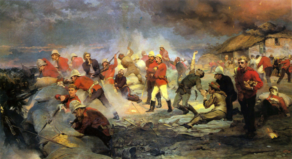 The Defence of Rorke's Drift by Lady Butler (1880)