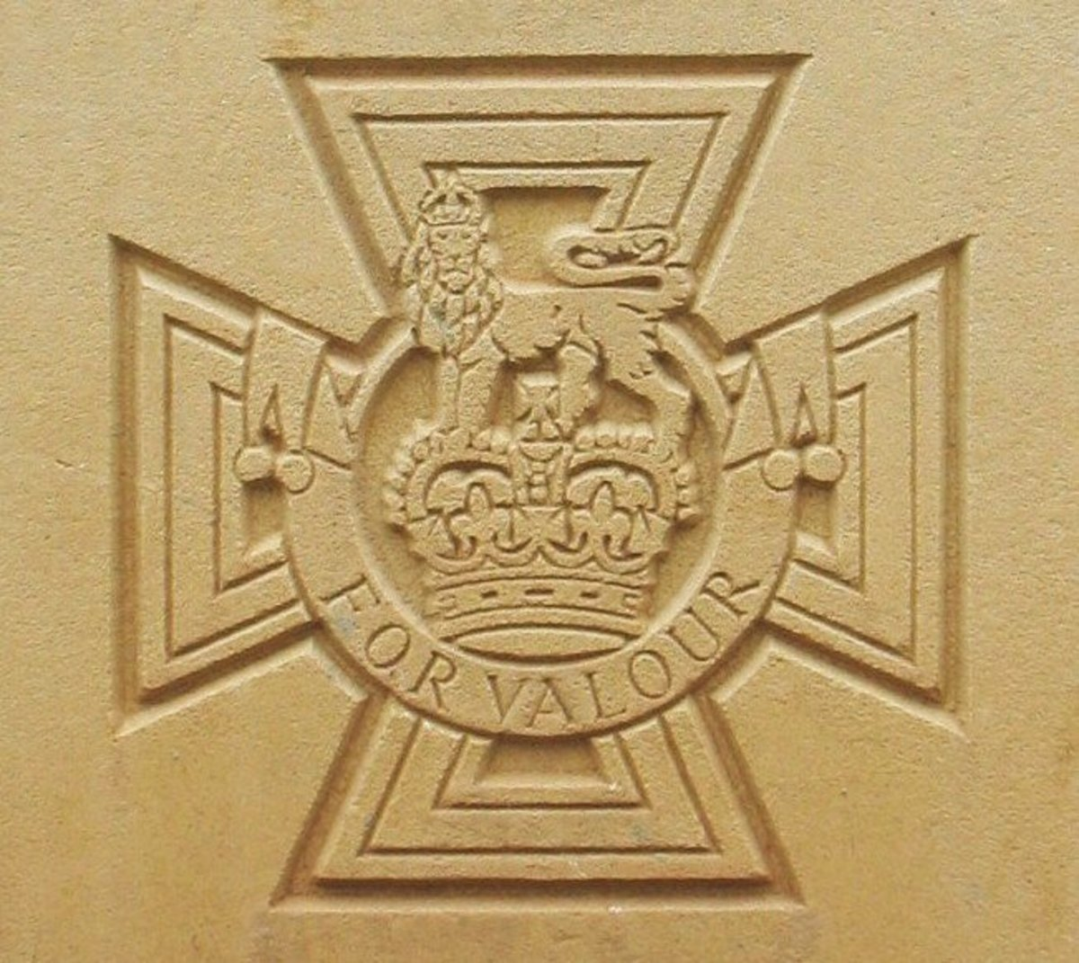Victoria Cross as it appears on Commonwealth War Graves Commission headstones.