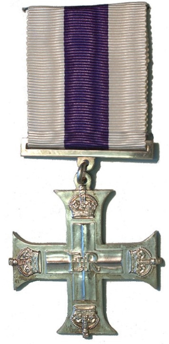 Instituted in 1914, The Military Cross (MC). Awarded to all ranks of the RN, RM, Army, and RAF in recognition of exemplary gallantry during active operations against the enemy on land.
