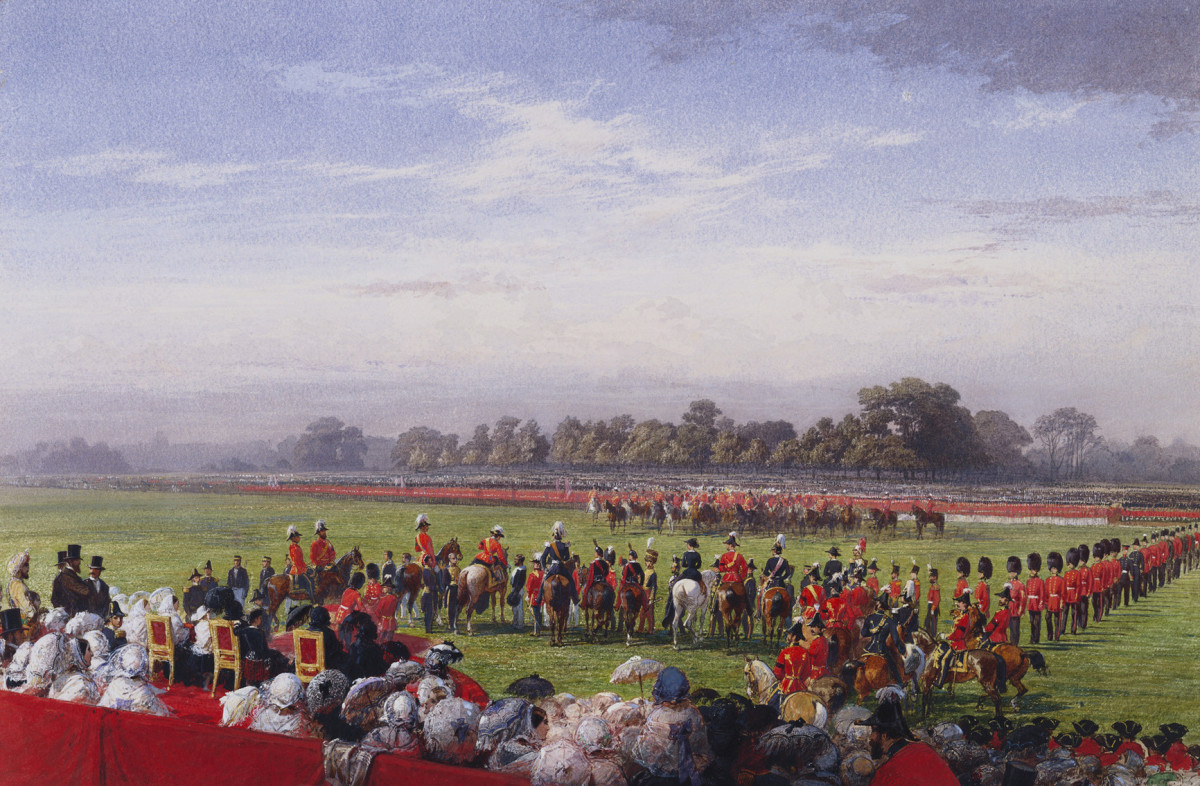 Queen Victoria presenting VC in Hyde Park on 26 June 1857