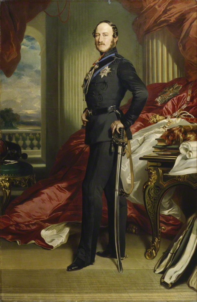 Prince Albert of Saxe-Coburg and Gotha, Consort to Queen Victoria who was much involved in the design of the Victoria Cross.   Portrait by Winterhalter, 1859