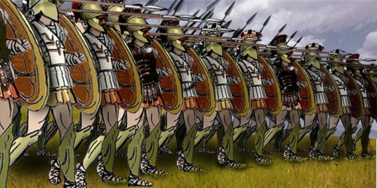 Modern depiction of the phalanx; a deadly troop formation from Greek and Roman times.