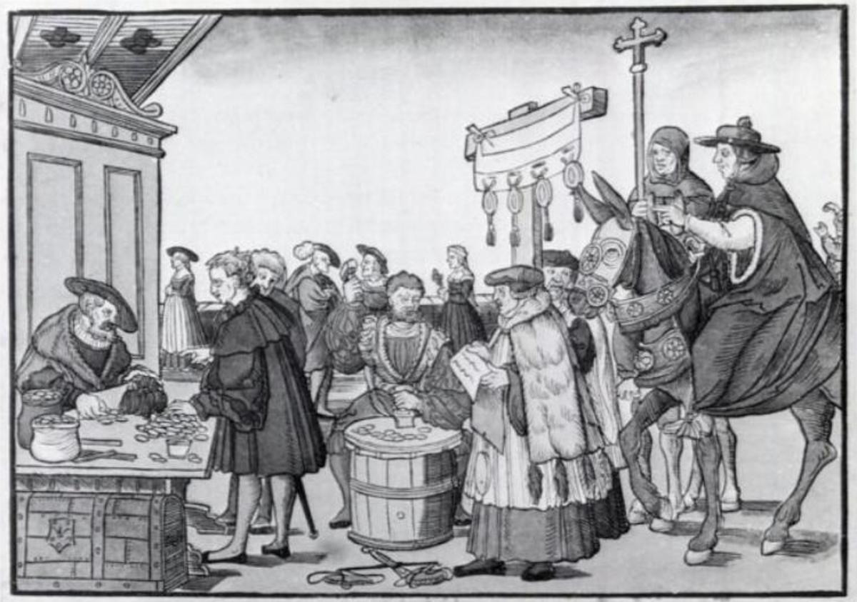 The sale of indulgences.