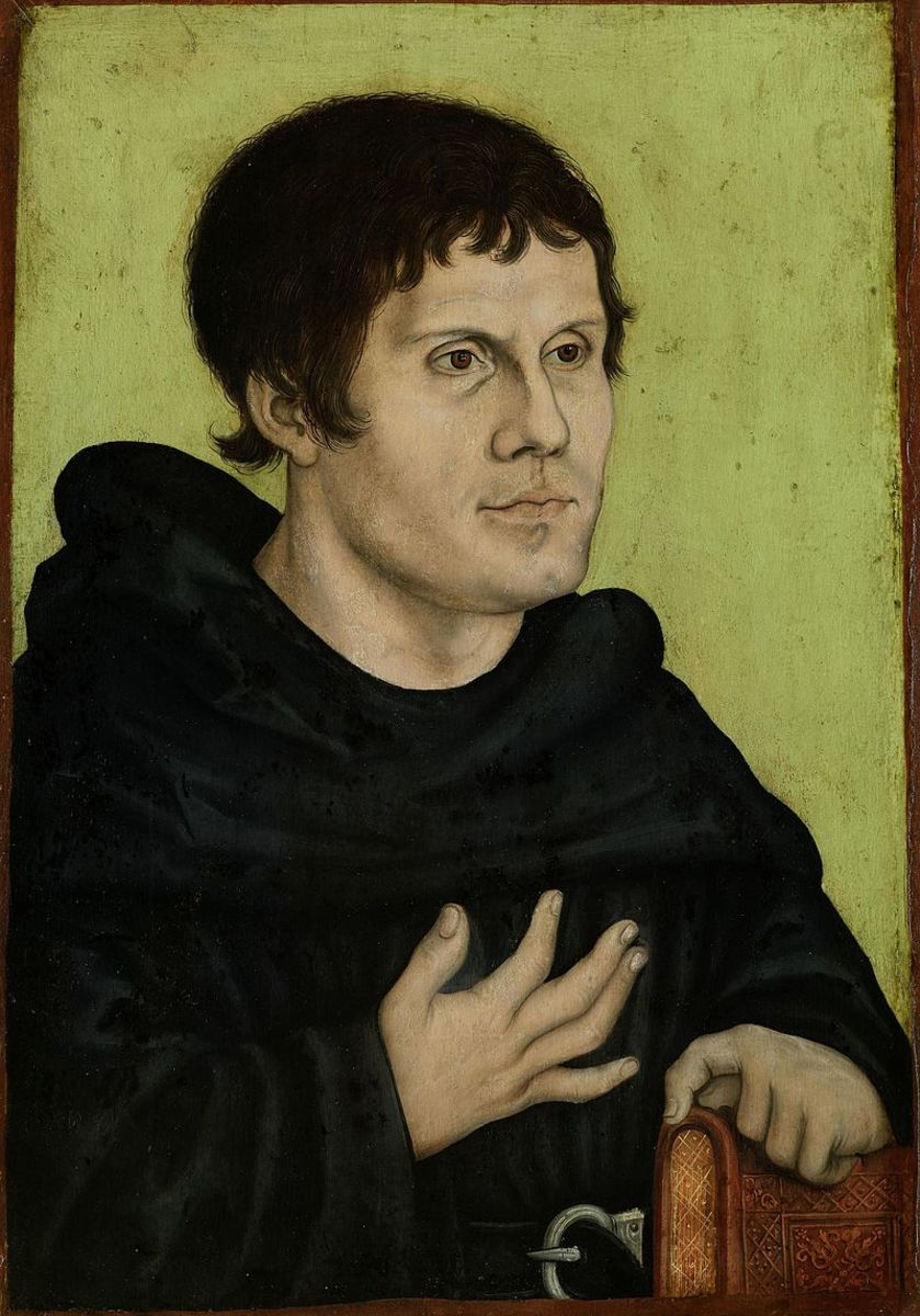 Portrait of Luther during his time as a monk.