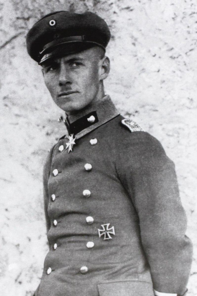 Erwin Rommel in his early military years.  From his earliest days in the military, Rommel was a tactical genius.
