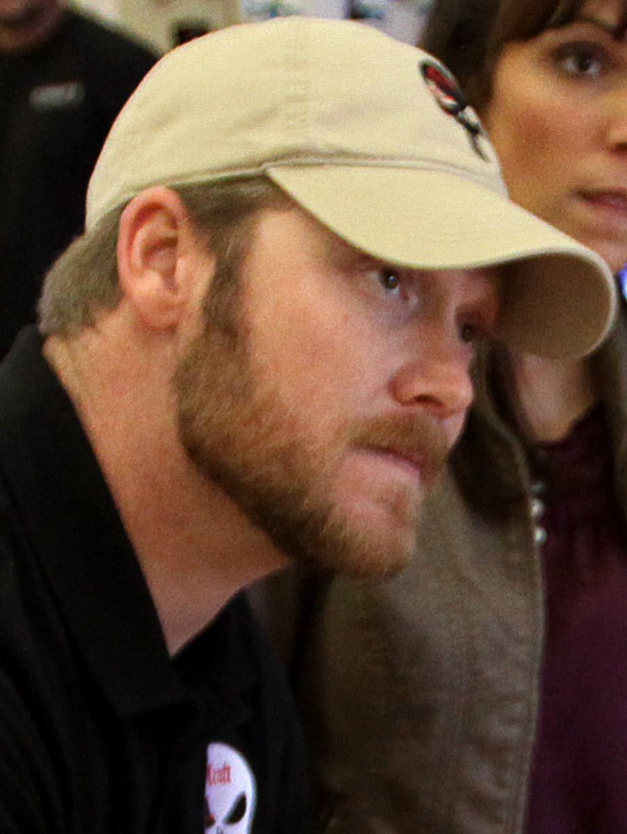 Chris Kyle during a book signing event.