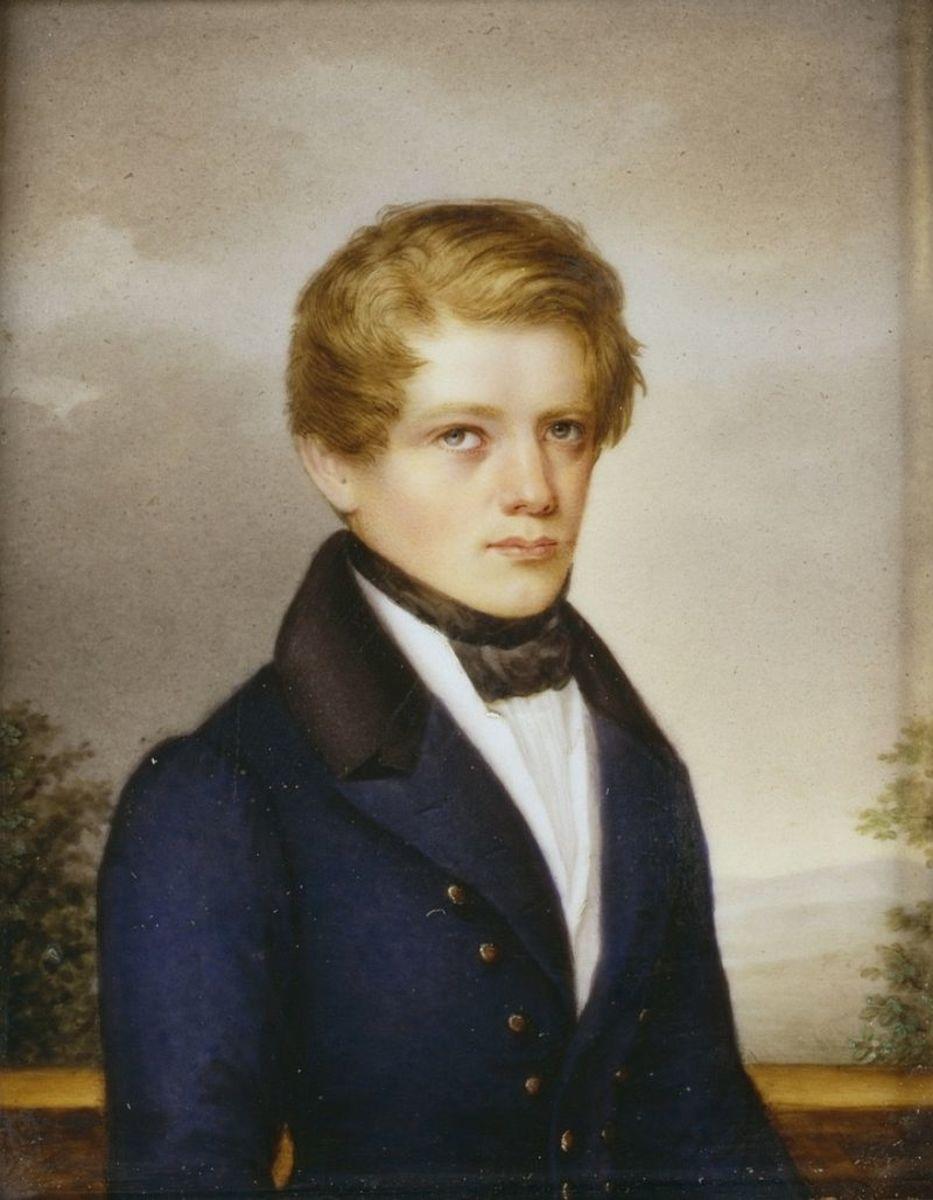 Early portrait of Otto von Bismarck.