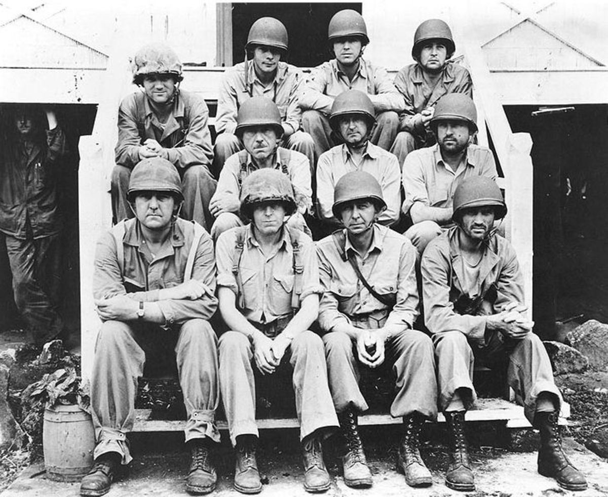 Lieutenant Colonel Merritt Edson (Second From Left) with group of Marine Raiders.