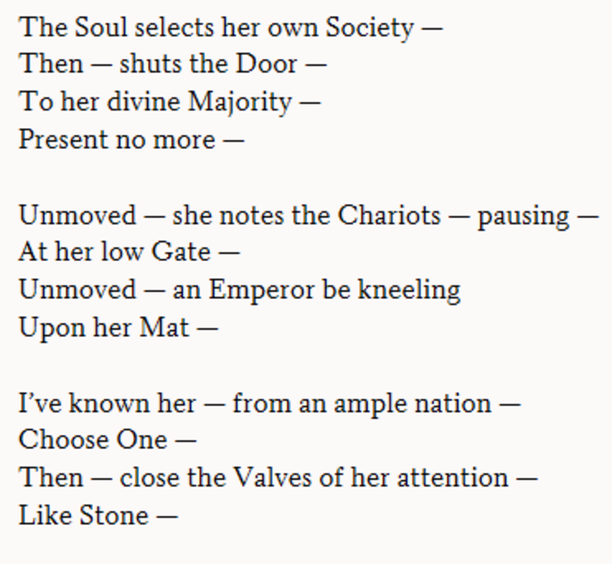 The Soul Selects