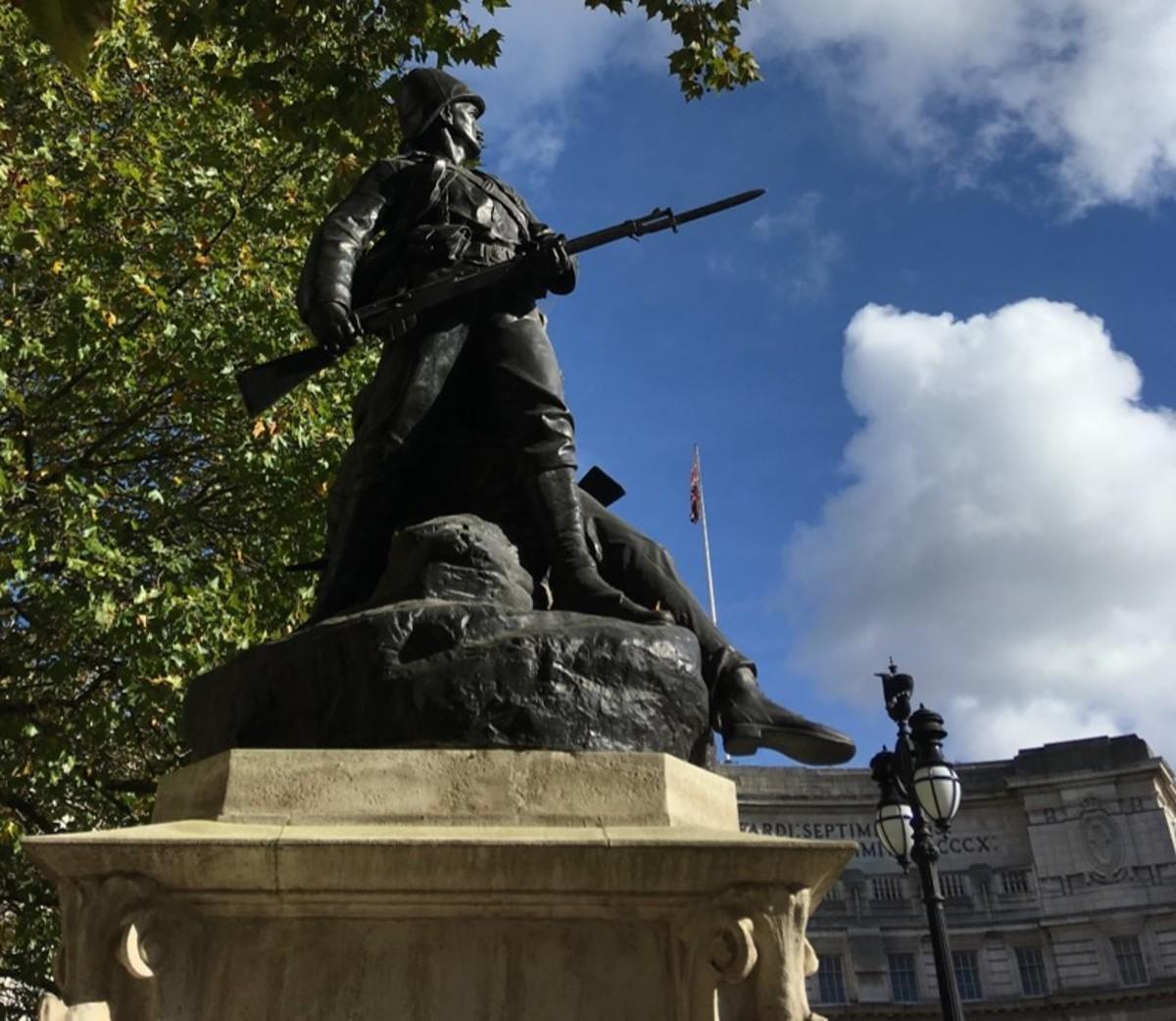 The Royal Marines Memorial in London