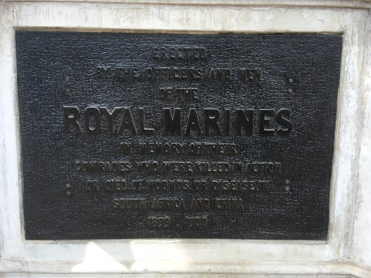 The inscription on the Royal Marines Memorial
