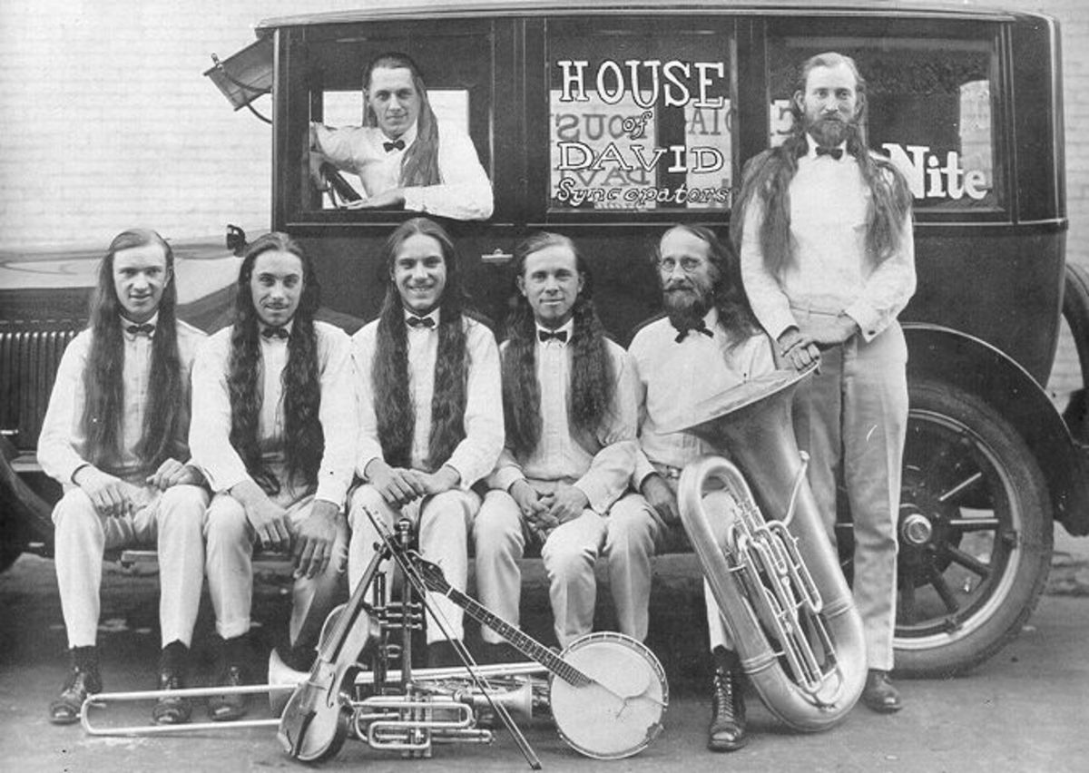 Members of the House of David were not a dour bunch; they had their own band.