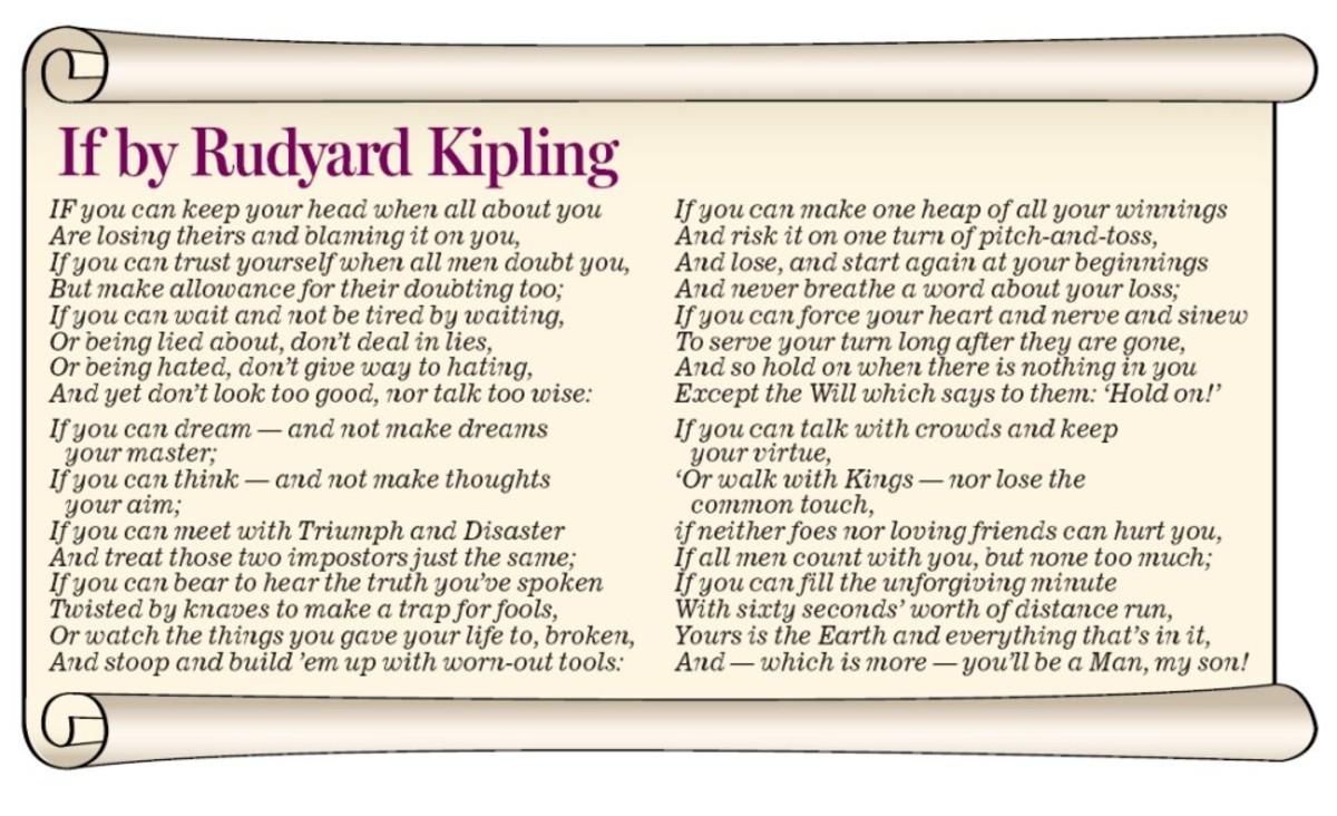 Rudyard Kipling gave us stoicism in rhyme.