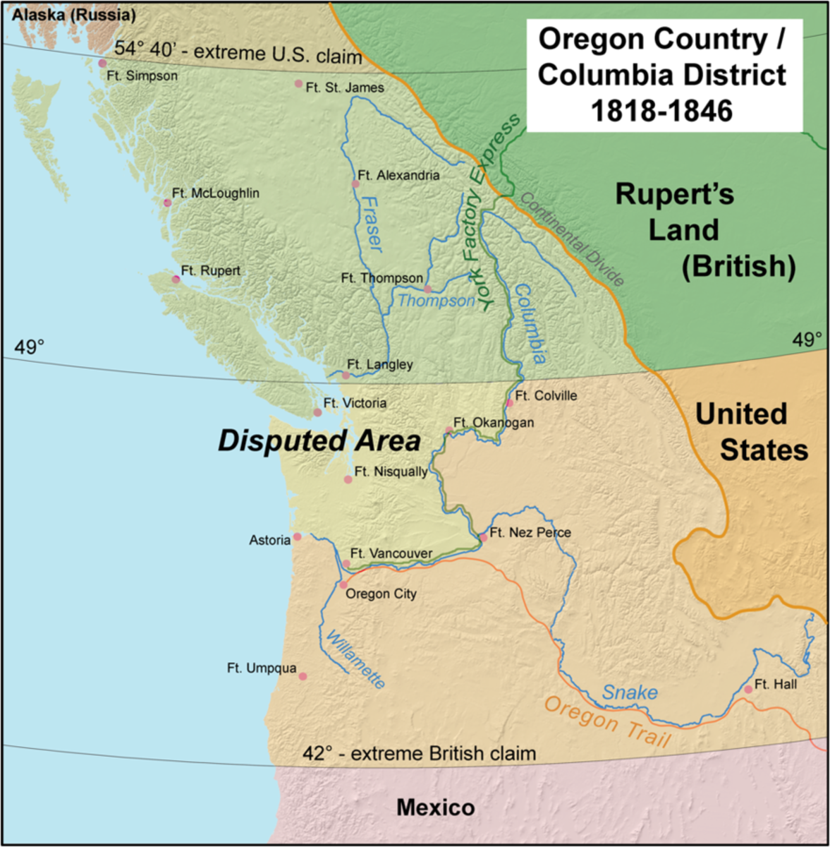 Map of Oregon Territory.