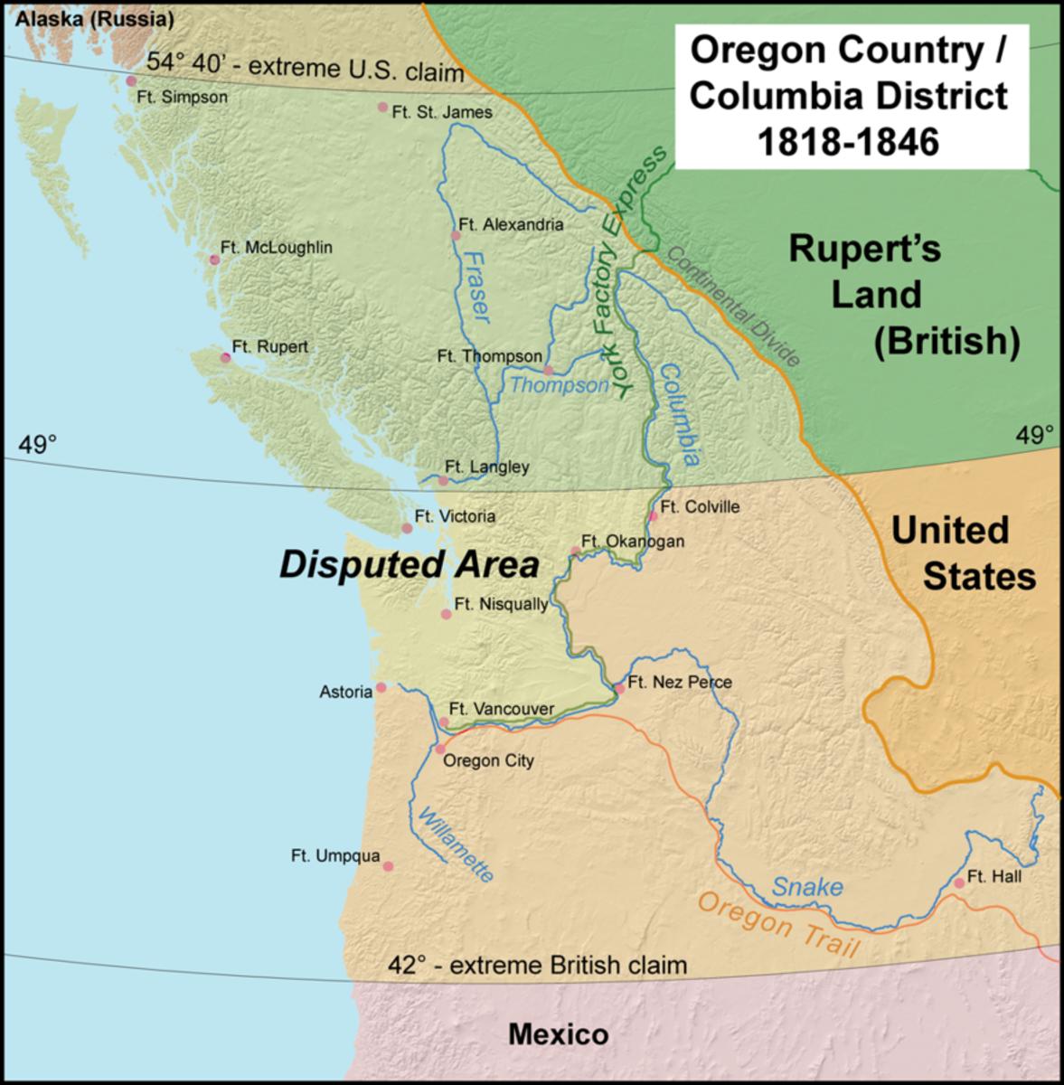 Map of Oregon Territory.