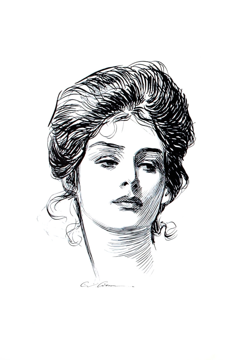 Typical Gibson Girl of 1890s.
