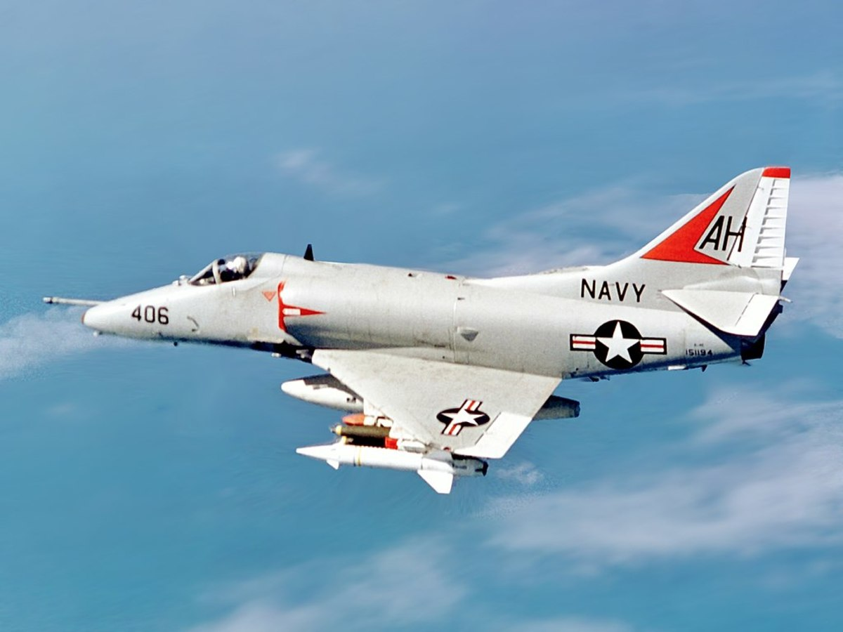A -4E Skyhawk from the USS Oriskany, November 1967.