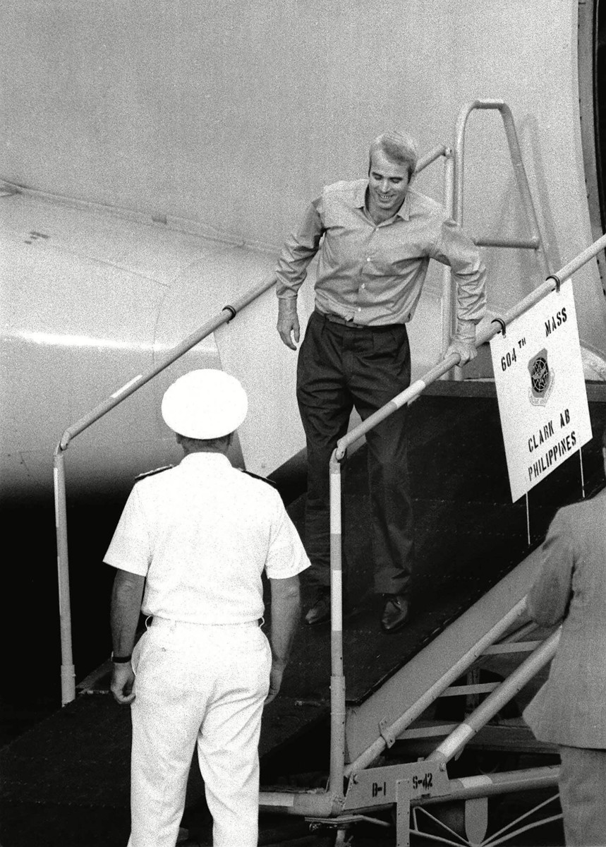 March 14, 1973: McCain arrives at Clark Field, Philippines.