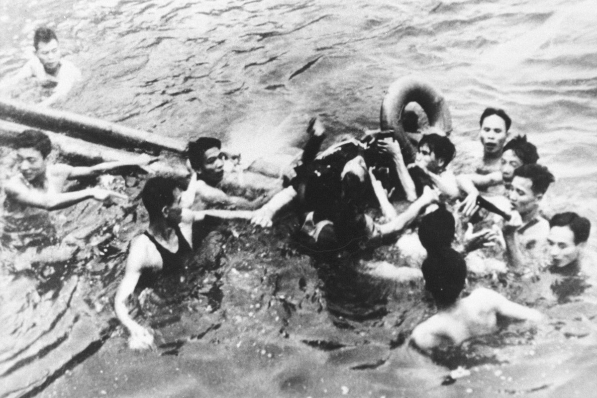October 26, 1967 - McCain being dragged to shore by an angry crowd.