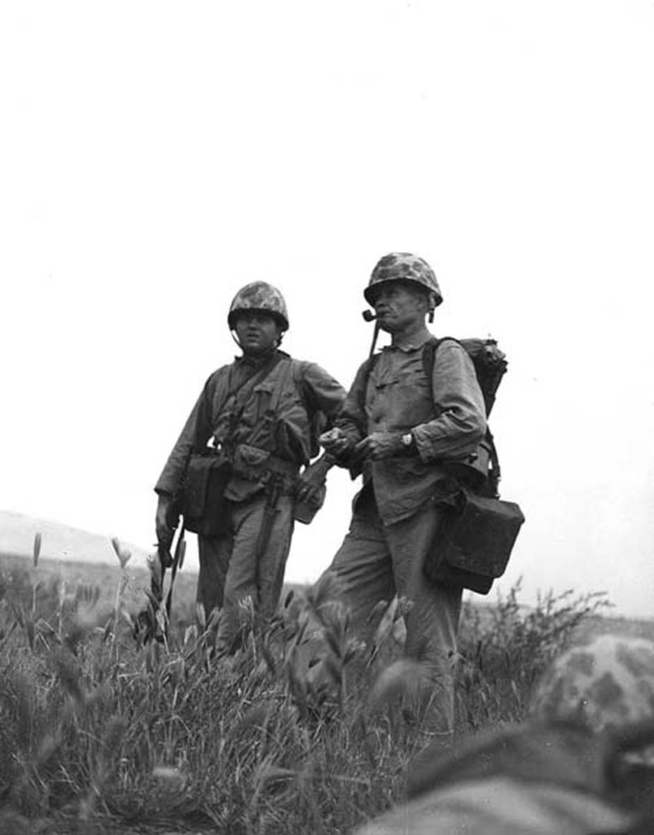 """Chesty"" Puller during the Korean War."