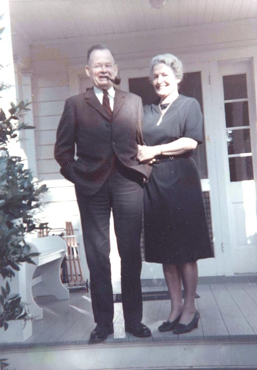 Puller and his wife during retirement.